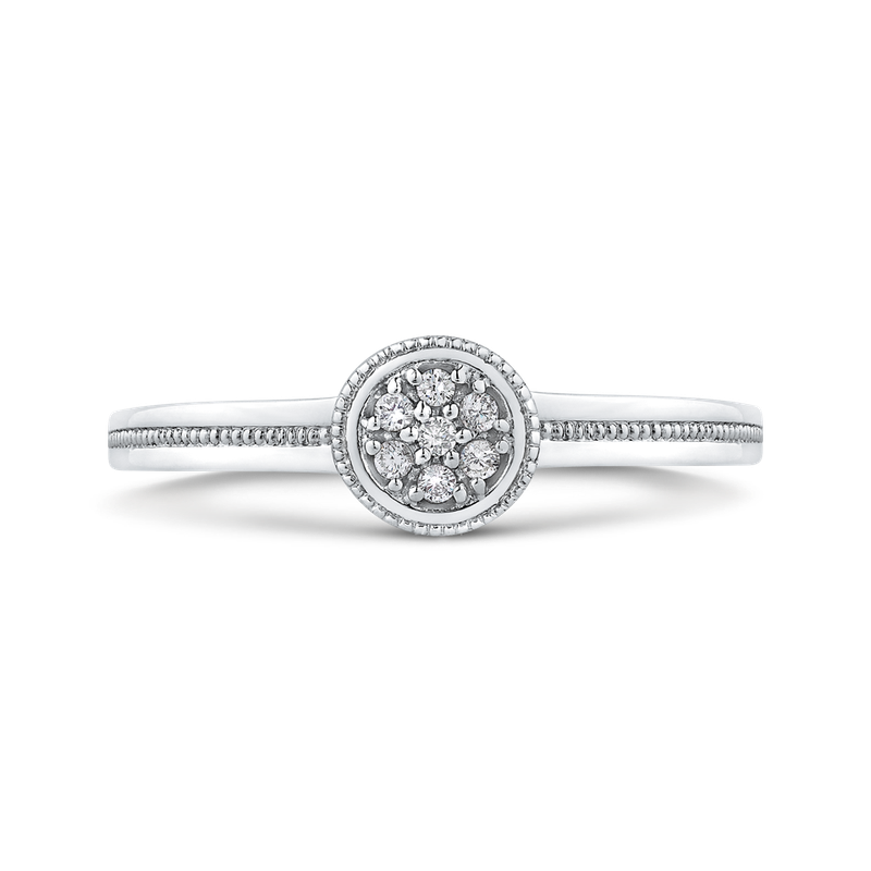 Essentials 10K White Gold .05 Ct Diamond Fashion Ring