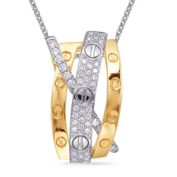 Yellow & White Gold Diamond Pendant