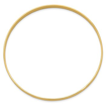 14k 4mm Solid Polished Half-Round Slip-On Bangle
