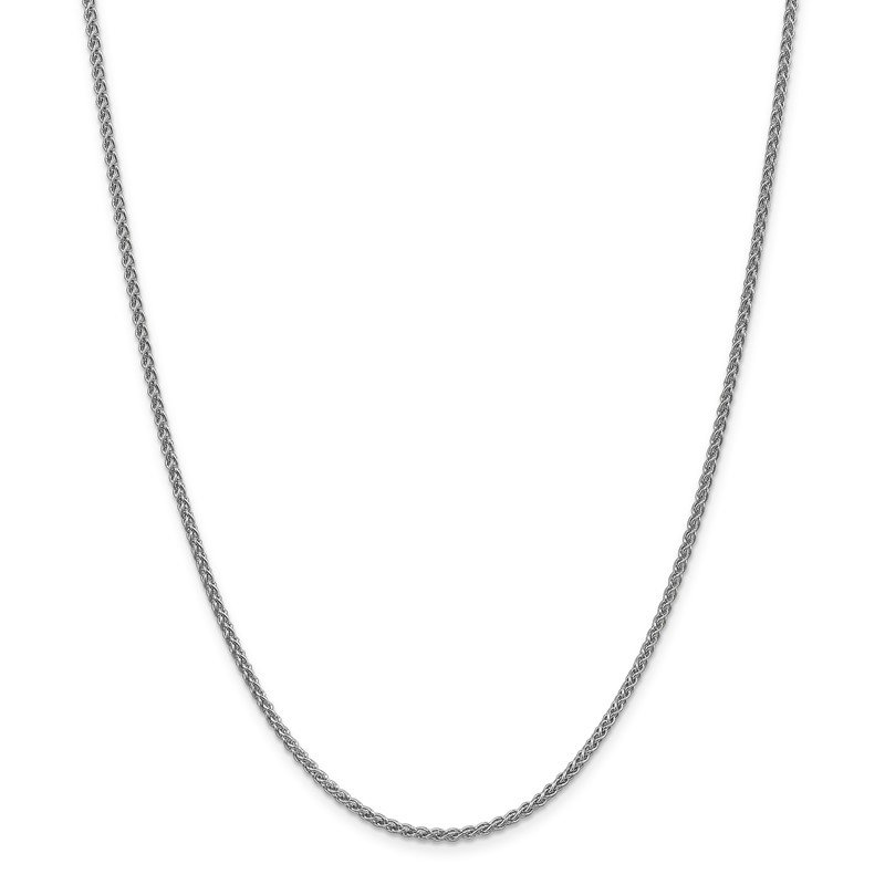 Quality Gold 14k WG 2mm Spiga Chain