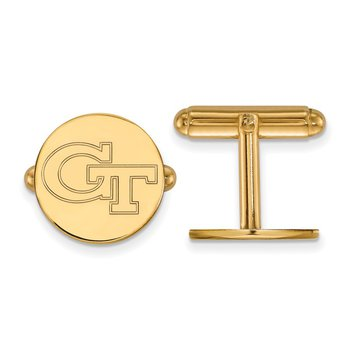 Gold-Plated Sterling Silver Georgia Institute of Technology NCAA Cuff Links