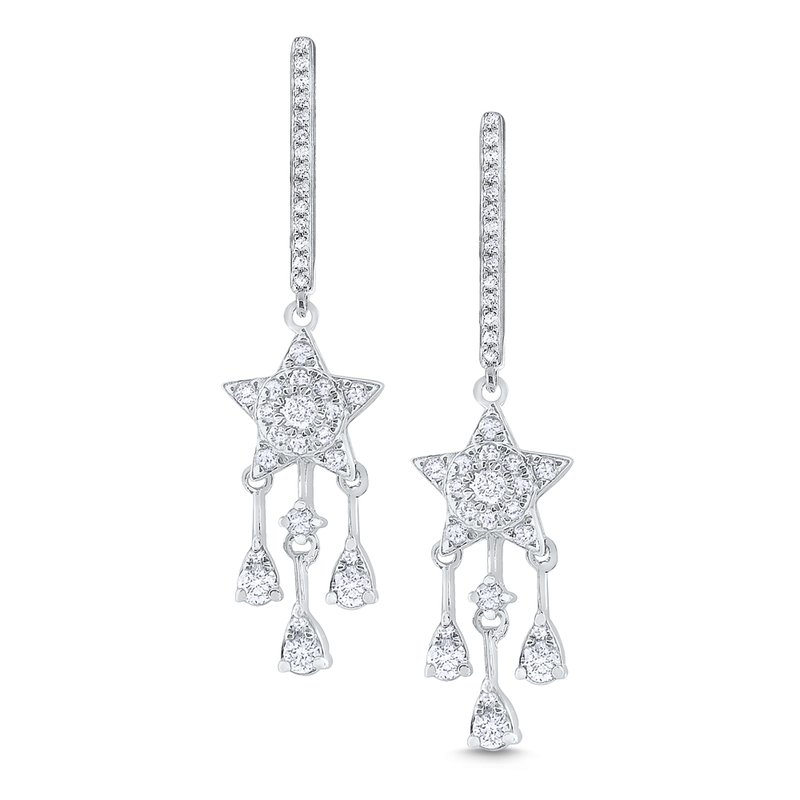 KC Designs 14K Gold and Diamond Star Earrings