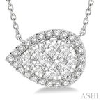 Crocker's Collection pear shape lovebright essential diamond necklace