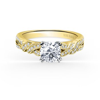 Twisted Ribbon Diamond Engagement Ring