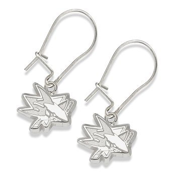 Sterling Silver San Jose Sharks NHL Earrings