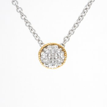 18kt and Sterling Silver Necklace
