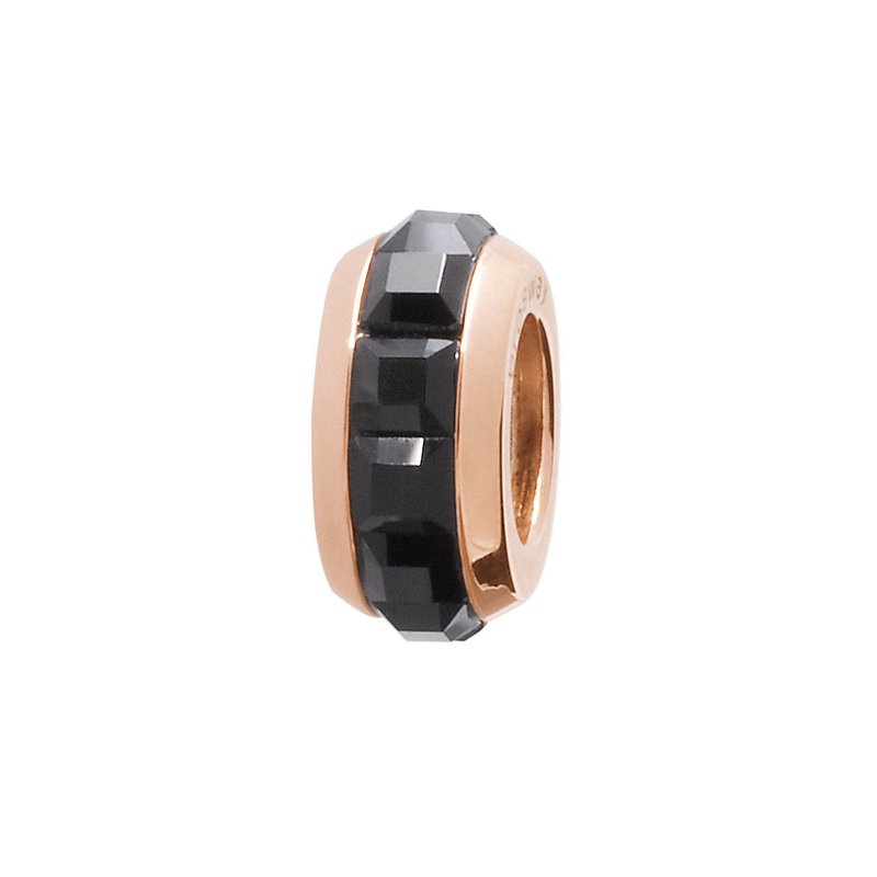 Brosway 316L stainless steel, rose gold pvd and black Swarovski® Elements crystals