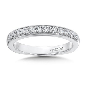 Diamond and 14K White Gold Wedding Ring