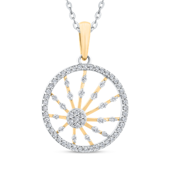 Round Cut Diamond Fashion Circle Pendant
