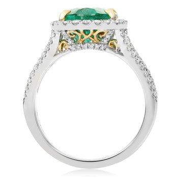 Emerald & Diamond Fashion Ring