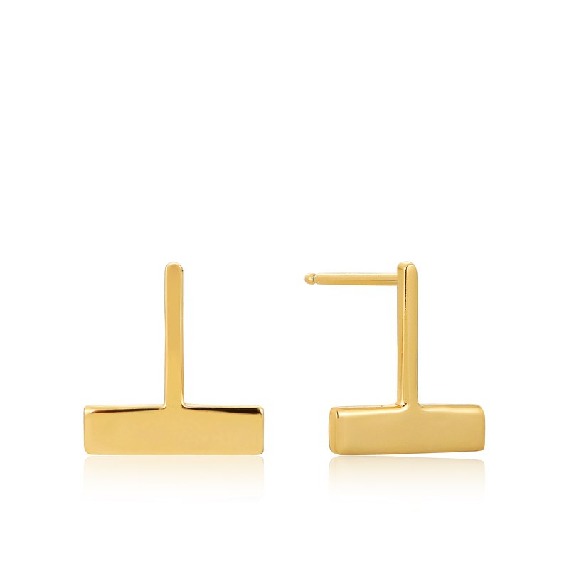 Ania Haie Drop T Bar Stud Earrings