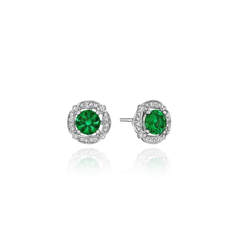 Fana From Dawn to Dusk All-Occasion Emerald and Diamond Studs