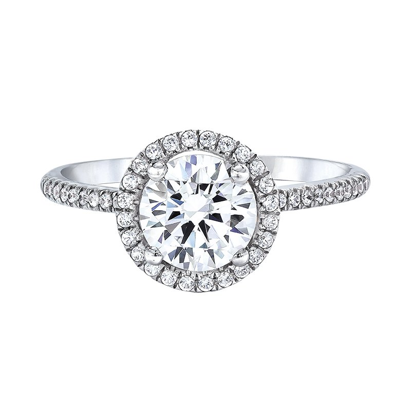 Love Story Diamonds Halo Engagement Ring by Love Story