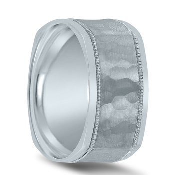 Hammered Men's Wedding Band N03511 by Novell