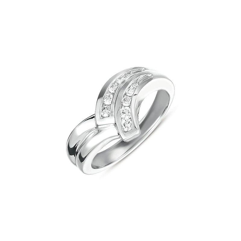 Briana Channel Set Diamond Ring
