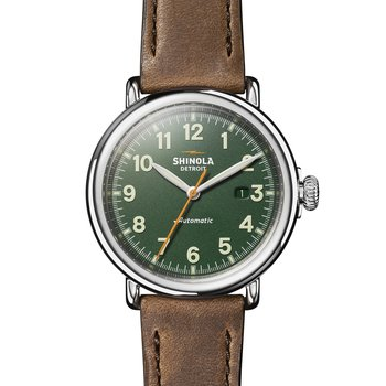 Runwell Automatic 45mm, British Tan Leather Strap, PoSS