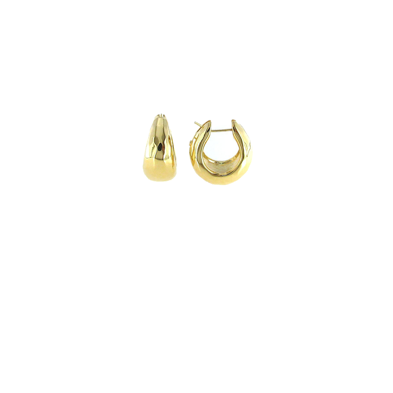 Roberto Coin 18Kt Gold Shiny Teardrop Hoop Earring