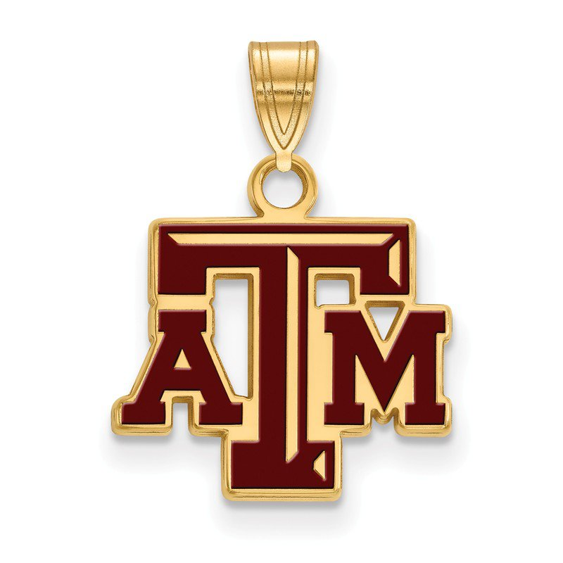 NCAA Gold-Plated Sterling Silver Texas A&M University NCAA Pendant