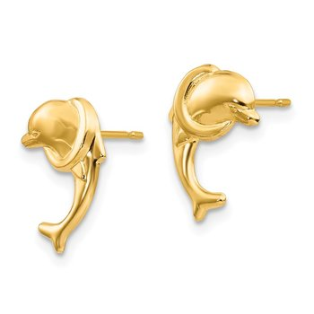 14k Madi K Dolphin Post Earrings