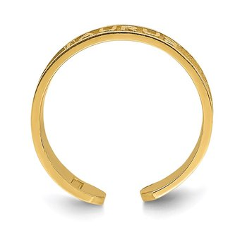 14K Brushed & Polished Zodiac Taurus Toe Ring