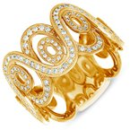 Briana White & Yellow Gold Fashion Ring