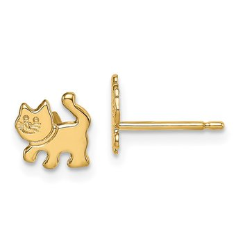 14k Madi K Kitten Post Earrings