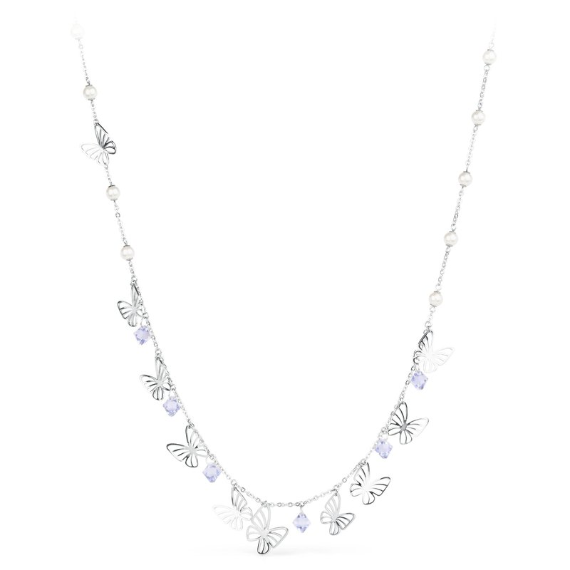 Brosway 316L stainless steel, provence lavender crystals and Swarovski® Elements pearls.