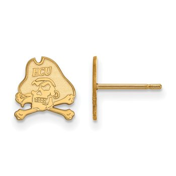 Gold East Carolina University NCAA Earrings