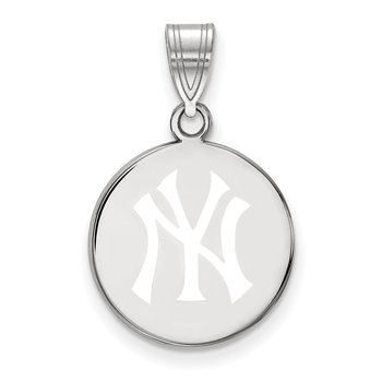 Sterling Silver New York Yankees MLB Pendant