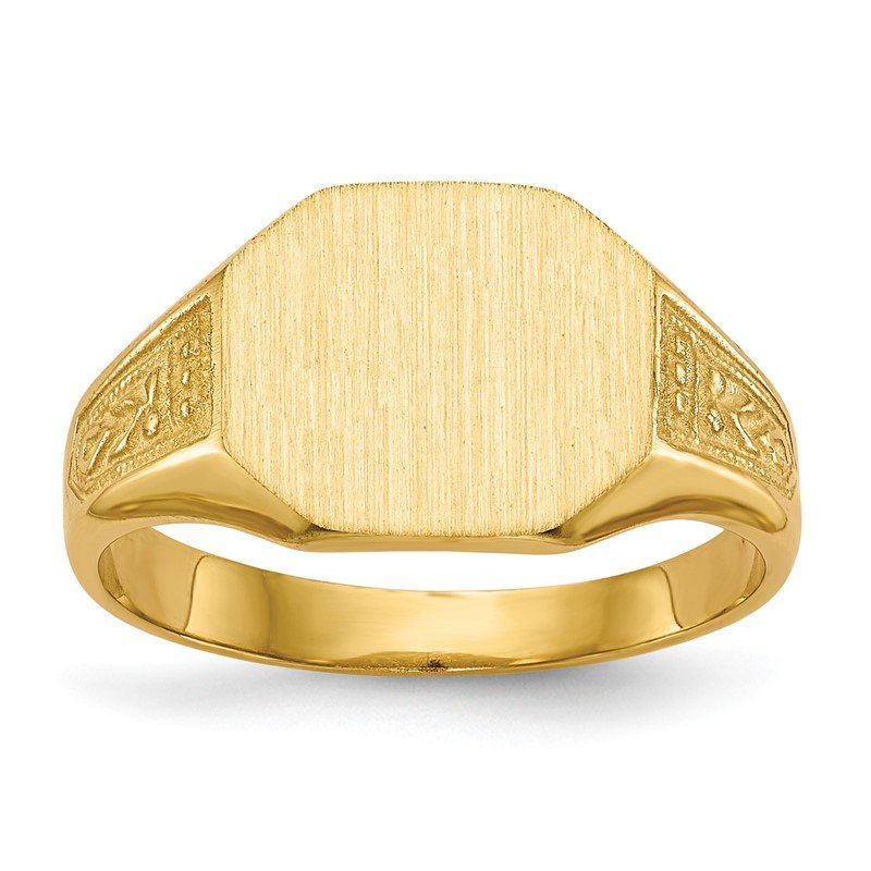 Quality Gold 14k 9.0x11.0mm Closed Back Signet Ring