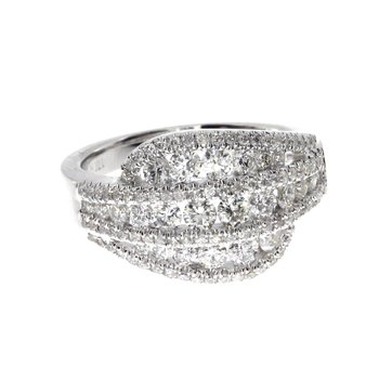 14k  White Gold Diamond Fashion Band
