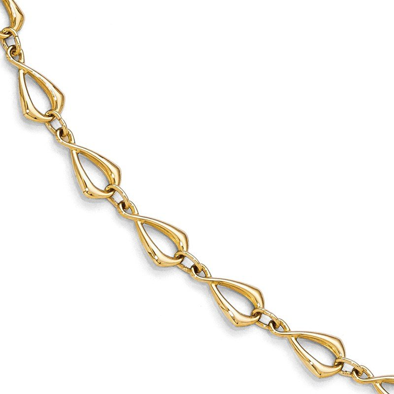 Leslie's Leslie's 14K Polished Fancy Link Bracelet