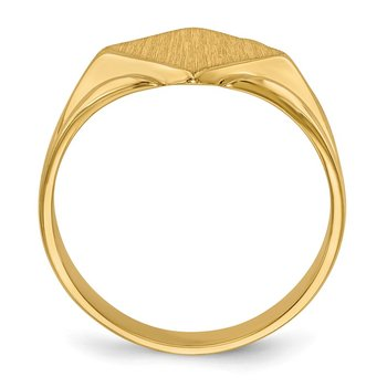 14k 11.5x11.5mm Closed Back Signet Ring