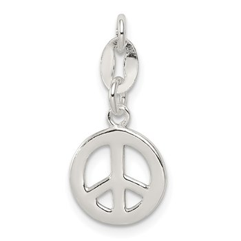 Sterling Silver Polished Peace Charm