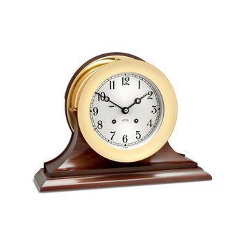 "6"" Ship's Bell Clock, Traditional Base"