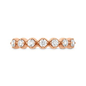 0.22 ctw. Diamond Bar Single Prong Milgrain Midi Band
