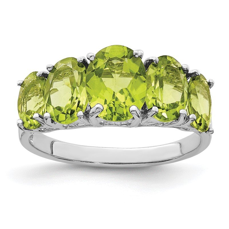 Quality Gold Sterling Silver Rhodium Peridot Ring