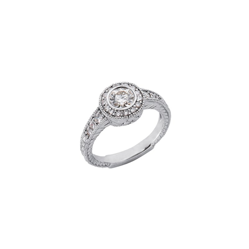 S. Kashi & Sons Bridal White Gold Engagament Ring