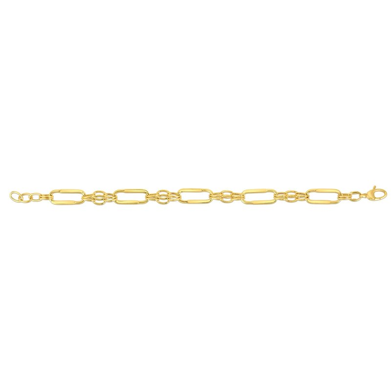 Royal Chain 14K Gold Elongated Oval Station Link Chain