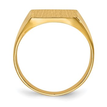 14k 13.0x12.0mm Closed Back Mens Signet Ring