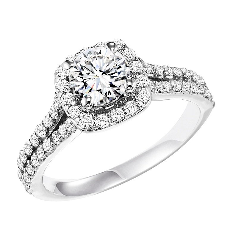 Bridal Bells 14K Diamond Engagement Ring 3/4 ctw With 3/4 ct Center Diamond