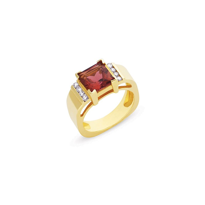 S. Kashi  & Sons Pink Tourmaline./diamond Ring