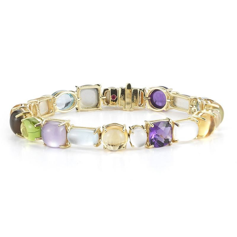 Roberto Coin 1 Row Bracelet With Semi Precious Stones