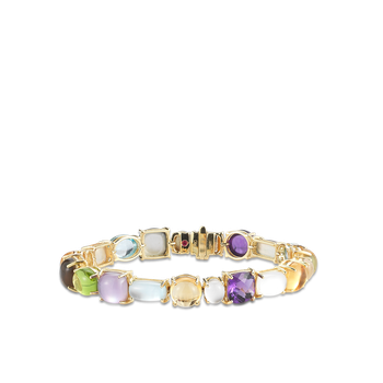 1 Row Bracelet With Semi Precious Stones