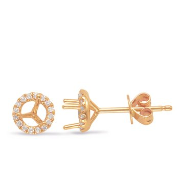Three Prong Earring Setting .50ct TW