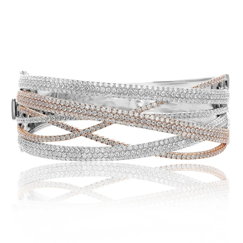 Roman & Jules Tri-Colored Diamond Bangle