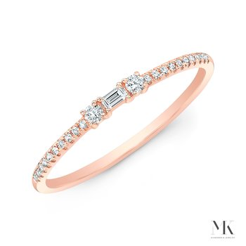 Rose Gold Stackable Baguette Band
