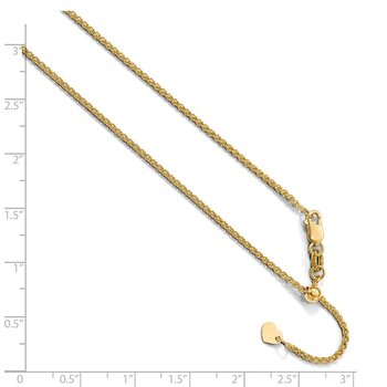 Leslie's 10K Yellow Gold 1.35 mm Adjustable Wheat Chain