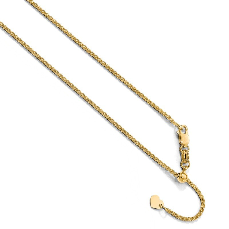Leslie's Leslie's 10K Yellow Gold 1.35 mm Adjustable Wheat Chain