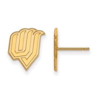 Gold-Plated Sterling Silver Utah Valley State University NCAA Earrings